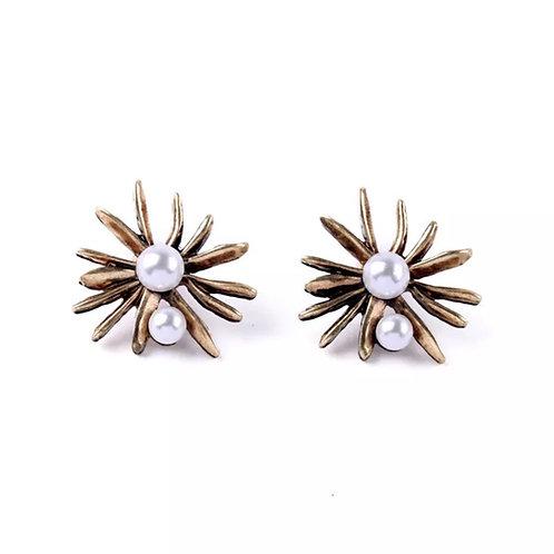 """Pearl Burst"" Stud Earrings"