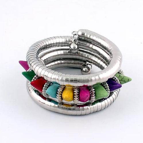 """Colorful & Charmed"" Bangle Bracelet"