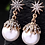 "Thumbnail: ""Shining Star""Elegant Faux Pearl Earrings"