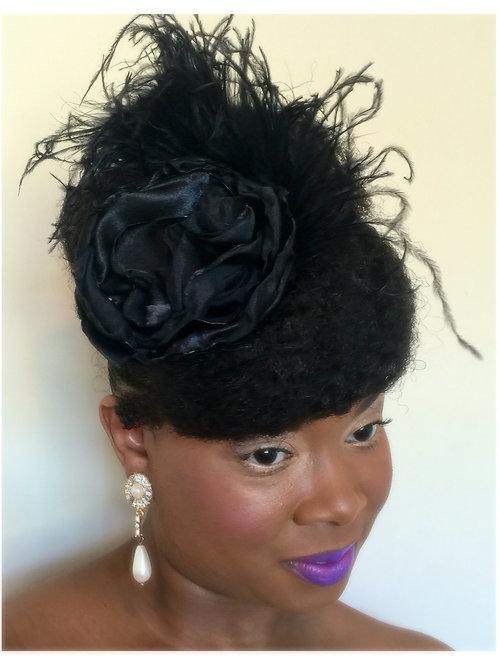 Black Radiance Hair Clip & Brooch