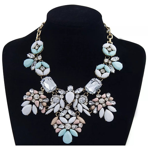 """Pastel Glam"" Luxe Statement Necklace"