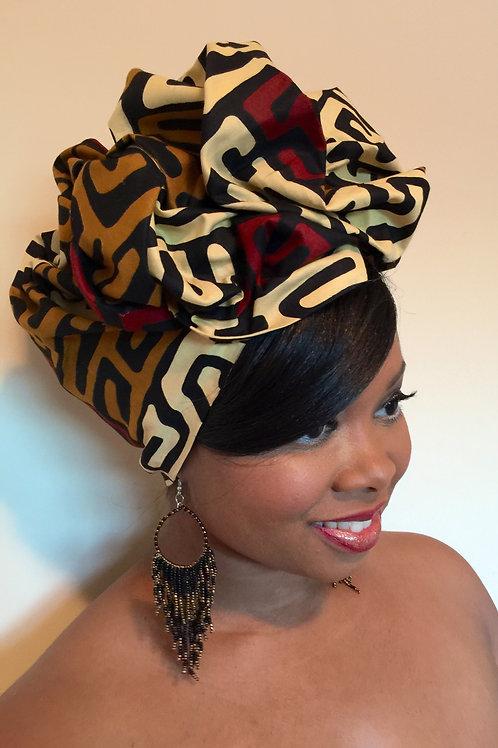 """Sankofa"" African Print Head Wrap"