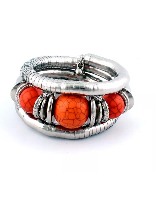 """Bright Orange"" Bangle Bracelet"