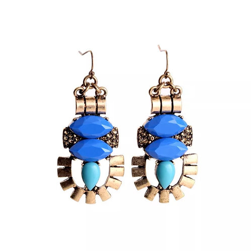 """Two-Toned ""Hook Earrings"