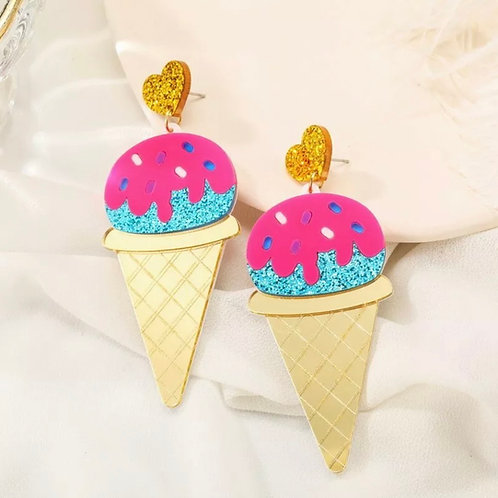 """Sundae Funday""  Acrylic Earrings"