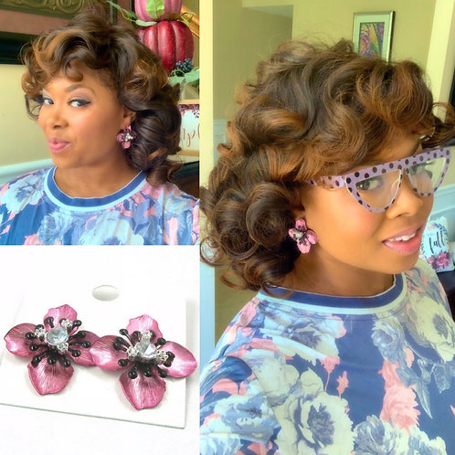 """""""Pink Passion"""" Classic Dainty Earrings"""