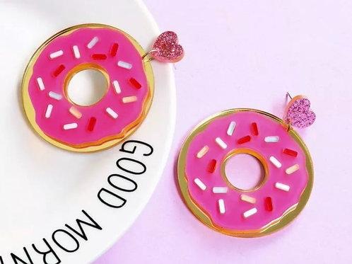 """""""Donut Stress"""" Acrylic Earrings"""