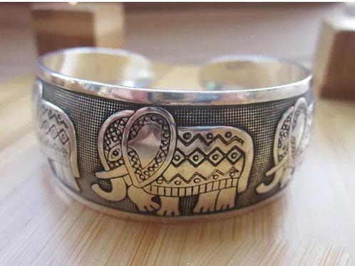 """Tibet Silver Elephant"" Bangle Bracelet"