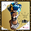 Thumbnail: Blue Samakaka Headwrap & Mask Set