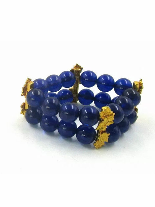 """Blue Nugget"" Stretch Bracelet"