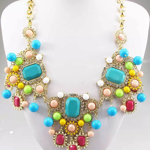 """Carnival"" Statement Necklace"