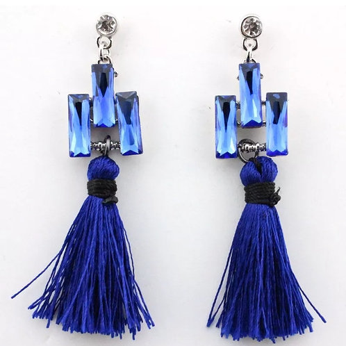 """Renaissance Blue"" Dangle Earrings"