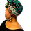 """Thumbnail: """"Octogon"""" Embroidered African Print Head Wrap"""