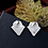 "Thumbnail: ""Elle"" Geometric Rhinestone Earrings"