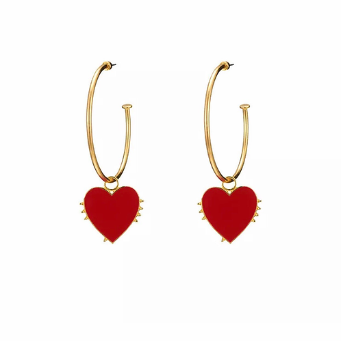 """Love on Bottom"" Layered Earrings"