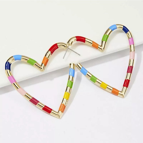 """Love in Color""  Modern Dangle Earrings"