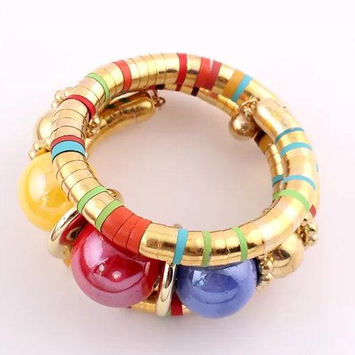 """""""Golden"""" Twining Bangle Bracelet"""