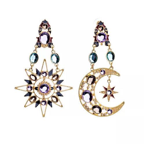 """""""Celestial Goddess"""" Statement Earrings XL"""