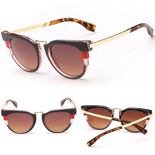 """Tribal"" Colorblock Sunglasses"