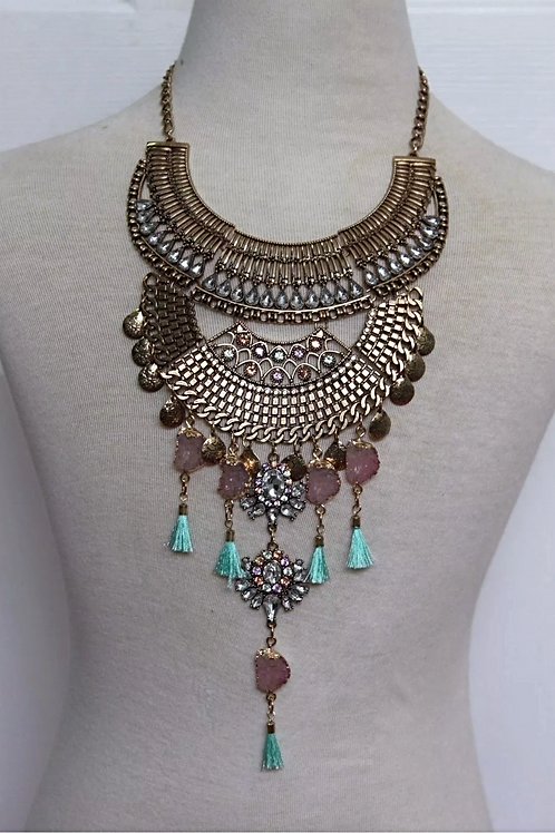 """Stoney"" Luxe Glam Necklace"