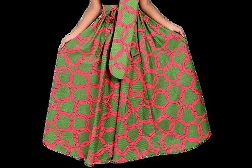 """""""Pink & Green Circles"""" Ankara Print Pants"""