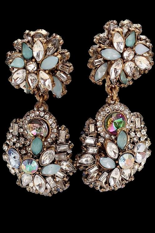 """Inspiration"" Pearlized Rhinestones Luxe Earrings"