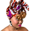 """Thumbnail: """"African Print Headwrap in Fuchsia Safari"""