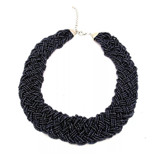 """""""Charcoal """" Seed Bead Necklace"""