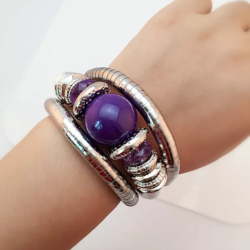 """Royal Purple"" Bangle Bracelet"