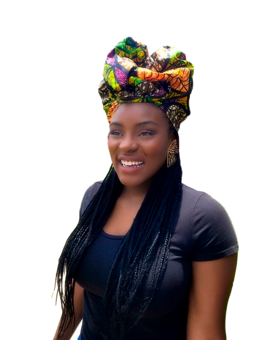 """""""Mother Earth"""" Neutrals Brown African Print Headwrap"""