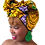 "Thumbnail: ""African Print Headwrap in Royal Tigress"