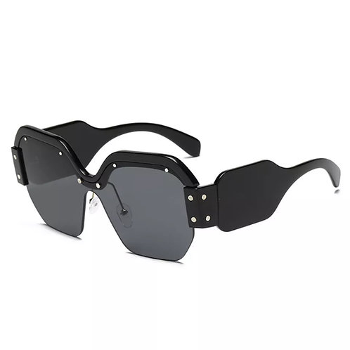 """Finesse"" Black Oversized Sunglasses"