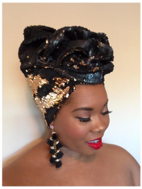"""Wakanda"" Stretch Sequin Headwrap"