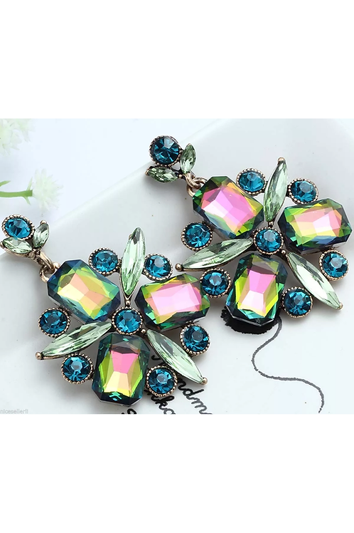 """""""Antique Green"""" Classic Glam Earrings"""