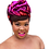 """Thumbnail: """"Fire Red & Hot Pink"""" Stretch Sequin Head Wrap"""