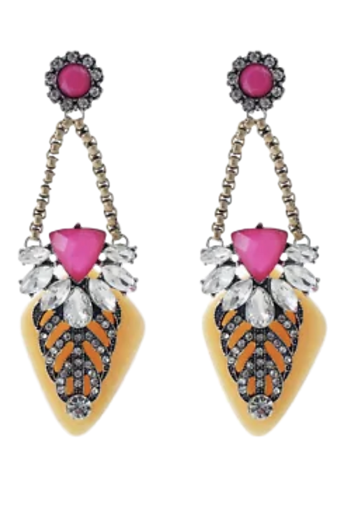 """""""Jamaican Punch"""" Sophisticated Earrings"""