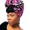 """Thumbnail: """"Orchard"""" Embroidered African Print Headwrap"""