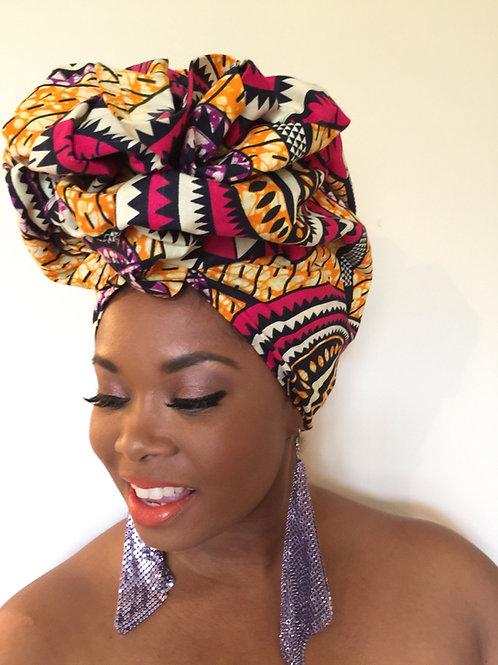 """Carnival"" African Print Head Wrap"