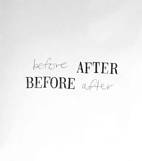 Before/After, Ink on paper