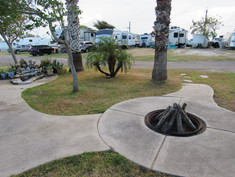 Fire Pit with RVs in Background