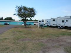 RV Campsite Office in Back