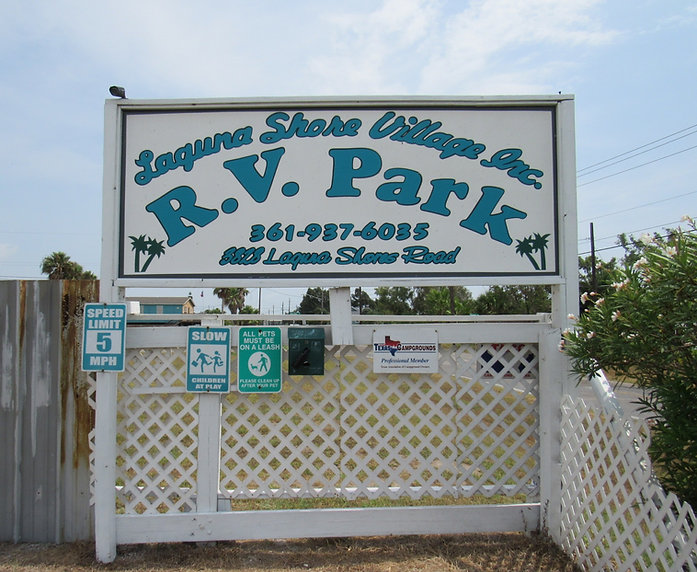 Laguna Shoe Village R.V. Park sign