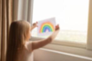 Children's Covid-19 rainbow