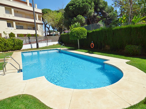 Luxurious duplex only 200 meters from the beach and just a short drive to Marbella. Shops & restaurants within walking distance. Large private outdoor space with BBQ.  Free WiFi