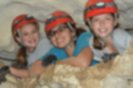 Three Students Caving