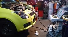 スイフトスポーツに エンジン内部洗浄 TEREXS新潟