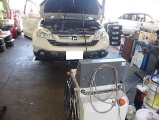 CR-Vにエンジン内部洗浄TEREXS(ティレックス)☆ 新潟市 中古車販売店 パレスオートのブログ