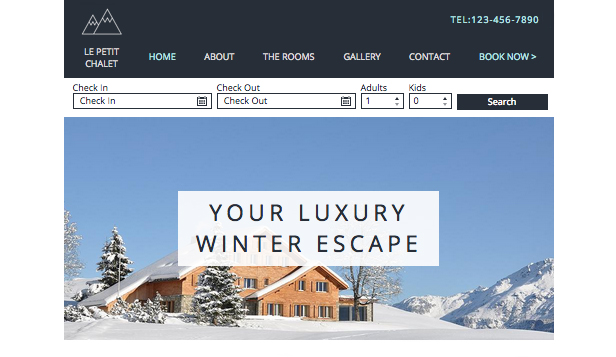 Hotels website templates –  Skichalet