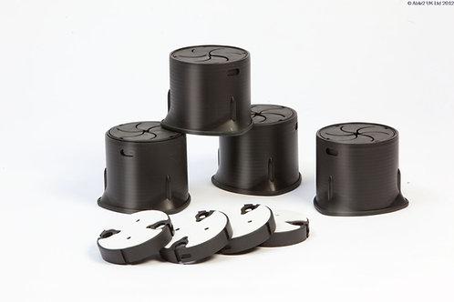 Langham SureGrip - Block Adapter with Adhesive Pad - Set of 20