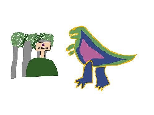 Unicorn Eating Dino